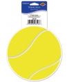 Tennisbal vinyl decoratie sticker 13 cm