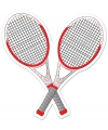 Tennisracket decoratie 25 cm
