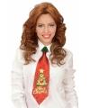 Toppers kerst stropdas voor dames
