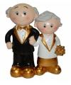 Trouwfiguurtje bruidspaar goud