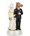 Trouwfiguurtje eenhoorn bruidspaar