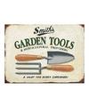Tuin retro muurplaat 30 x 40 cm garden tools