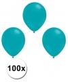 Turquoise ballonnen 100 stuks