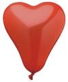 Valentijn 50 hartjes ballonnen rood