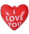 Valentijn opblaasbaar i love you hart 22 cm