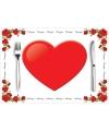 Valentijn papieren placemats liefde 10 stuks