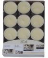 Vanille geur theelichtjes 24 stuks