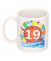 Verjaardag ballonnen mok beker 19 jaar