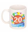 Verjaardag ballonnen mok beker 20 jaar