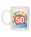 Verjaardag ballonnen mok beker 50 jaar