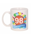 Verjaardag ballonnen mok beker 98 jaar