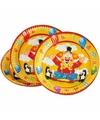 Verjaardag bordjes clowns 8 stuks