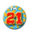 Verjaardags button i am 21