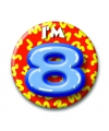 Verjaardags button i am 8