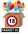 Verkeersbord 18 jaar feestartikelen pakket xl