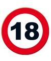 Verkeersbord 18 jaar poster 49 cm
