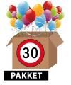Verkeersbord 30 jaar feestartikelen pakket