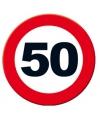 Verkeersbord 50 jaar poster 49 cm