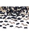 Vleermuizen confetti mix zwart en goud