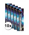 Voordeelpakket blauwe vuur toorts 10 x
