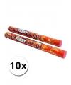 Voordeelpakket rode fakkels 10 x