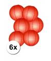 Voordelig lampionnen pakket rood 6x