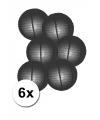 Voordelig lampionnen pakket zwart 6x
