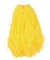 Voordelige cheerball geel 28 cm