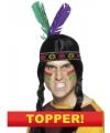 Voordelige indianen hoofdband met veren