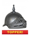Voordelige ridder helm zilver met vizier