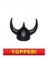 Voordelige zwarte viking helm volwassenen