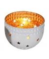 Waxinelichthouder met sterren goud