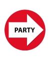 Wegwijzer setje party rood