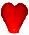 Wensballon rood hart 100 cm