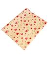 Wit inpakpapier met roze hartjes 200 x 70 cm