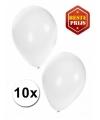 Witte ballonnen 10 stuks