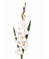 Witte kunst gladiool 102 cm