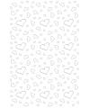Witte loper met hartjes 4 5 x 60 cm