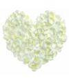 Witte rozenblaadjes 500 stuks