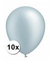 Xxl ballonnen zilver 10 stuks