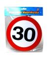 Xxl leeftijd confetti 30 jaar verkeersbord