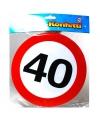 Xxl leeftijd confetti 40 jaar verkeersbord