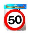 Xxl leeftijd confetti 50 jaar verkeersbord