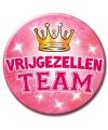 Xxl roze vrijgezellen team button