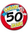 Xxl verjaardags button 50 jaar sarah
