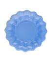 Zee blauwe kartonnen schaaltjes 24 cm