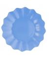 Zeeblauwe diepe bordjes 21 cm