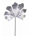 Zilver aralia blad met glitters 55 cm
