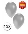 Zilveren ballonnen 15 stuks