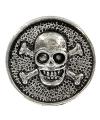 Zilveren doodshoofd chunk 1 8 cm